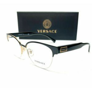 Versace Women's Black and Gold Cat Eye Eyeglasses!